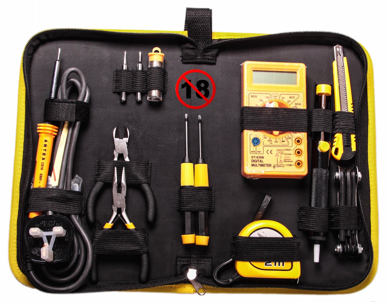 Antex KF8JSZ0 CS18 Soldering Tool Kit, Black/Yellow