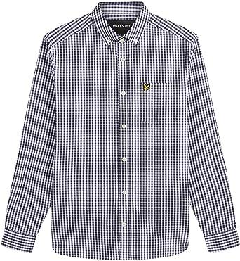 Lyle & Scott LS Slim Fit Gingham Shirt Camisa Casual para Hombre
