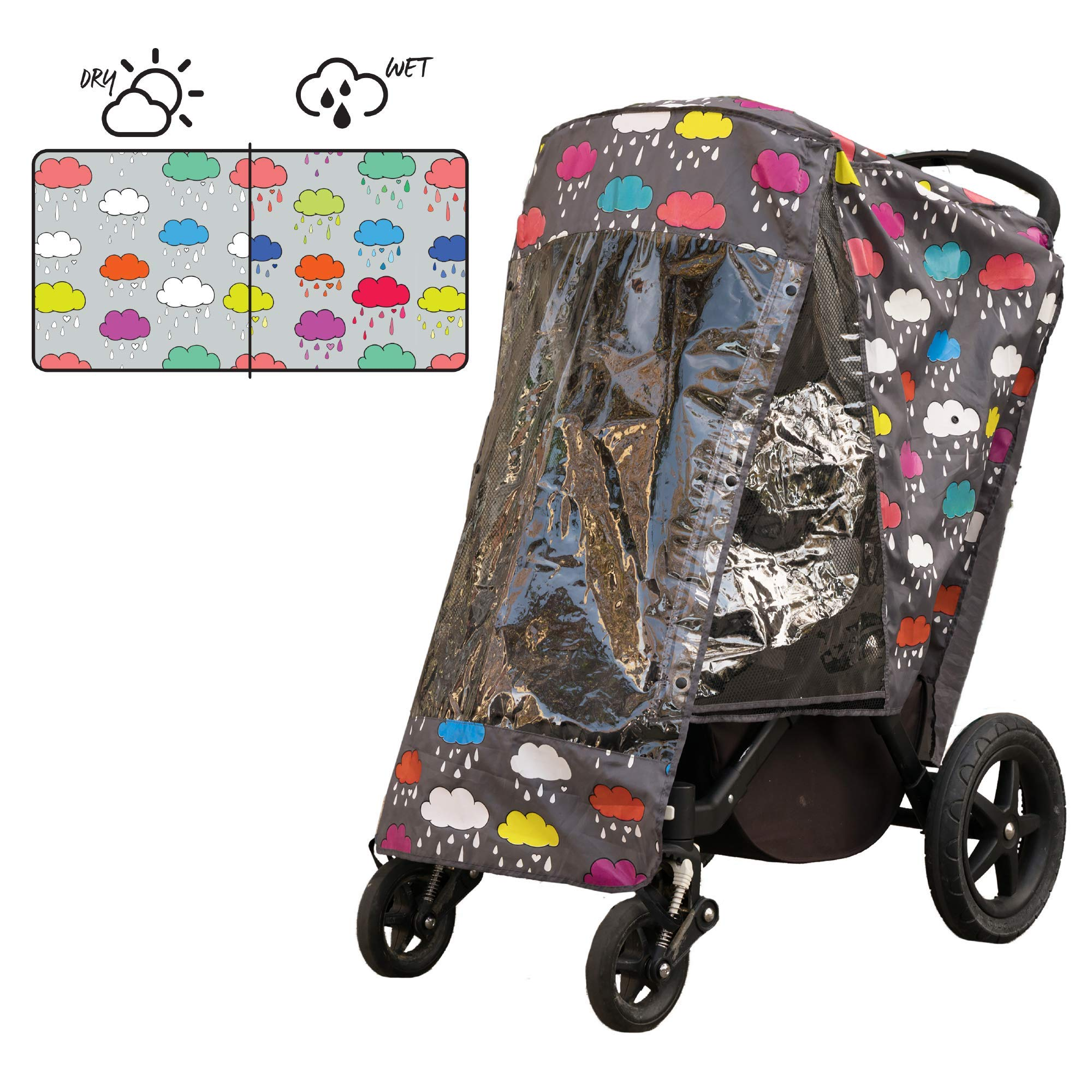 ROSIE POPE Color Changing Stroller Rain Cover - Clouds