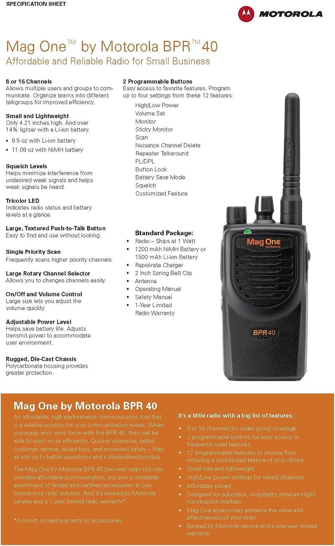 Motorola Mag One BPR40-Cuir Étui /& Ceinture Boucle Ligue 4742 A