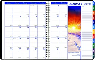 product image for House of Doolittle 2020 Weekly and Monthly Planner Calendar, Earthscapes, Tabbed, Black, 8.5 x 11 Inches, January - December (HOD27302-20)