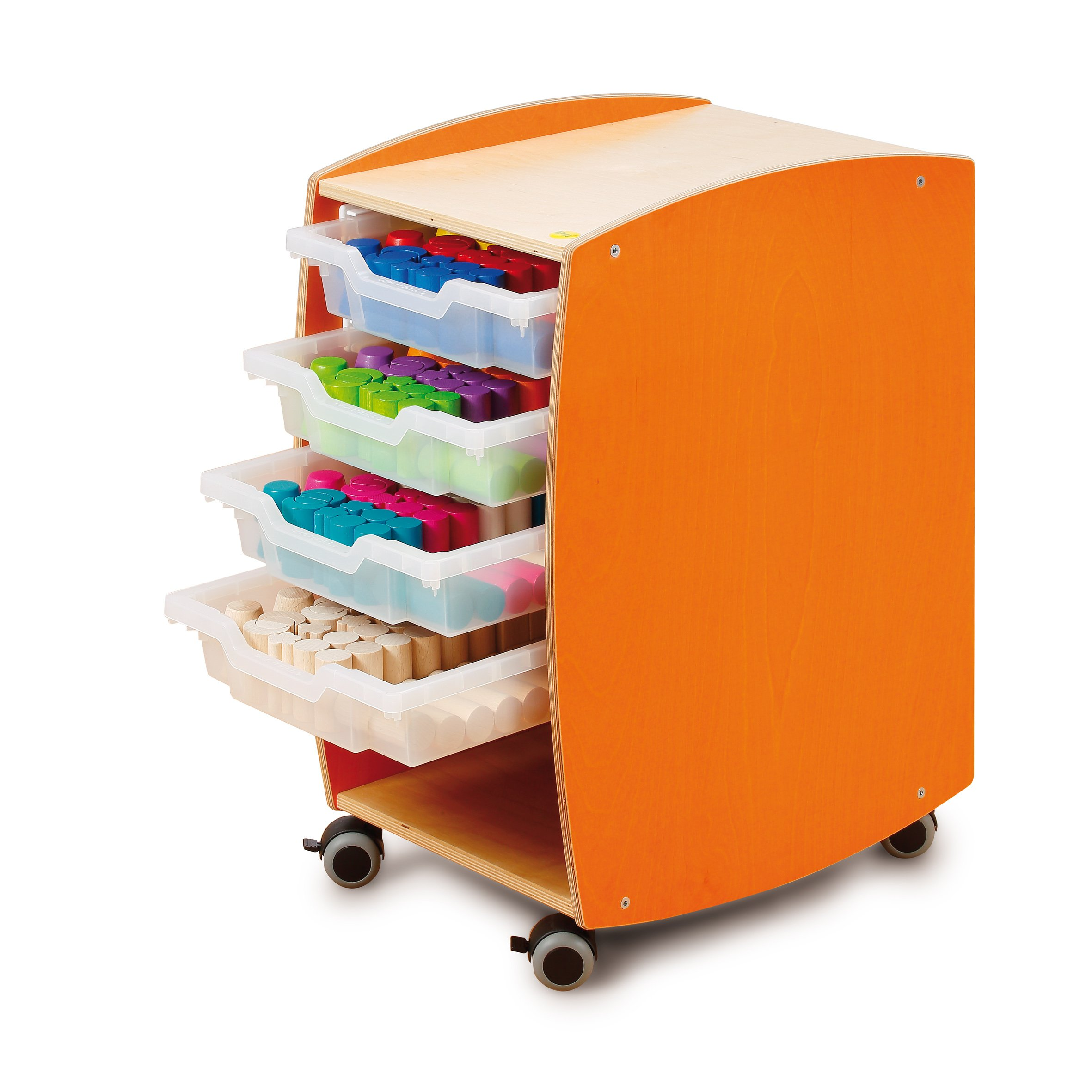 Erzi 49 5 x 34 5 x 66 5 cm German Wooden Toy Learning Trolley