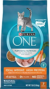 Purina ONE Weight Control, Natural Dry Cat Food, Healthy Metabolism - 7 lb. Bag