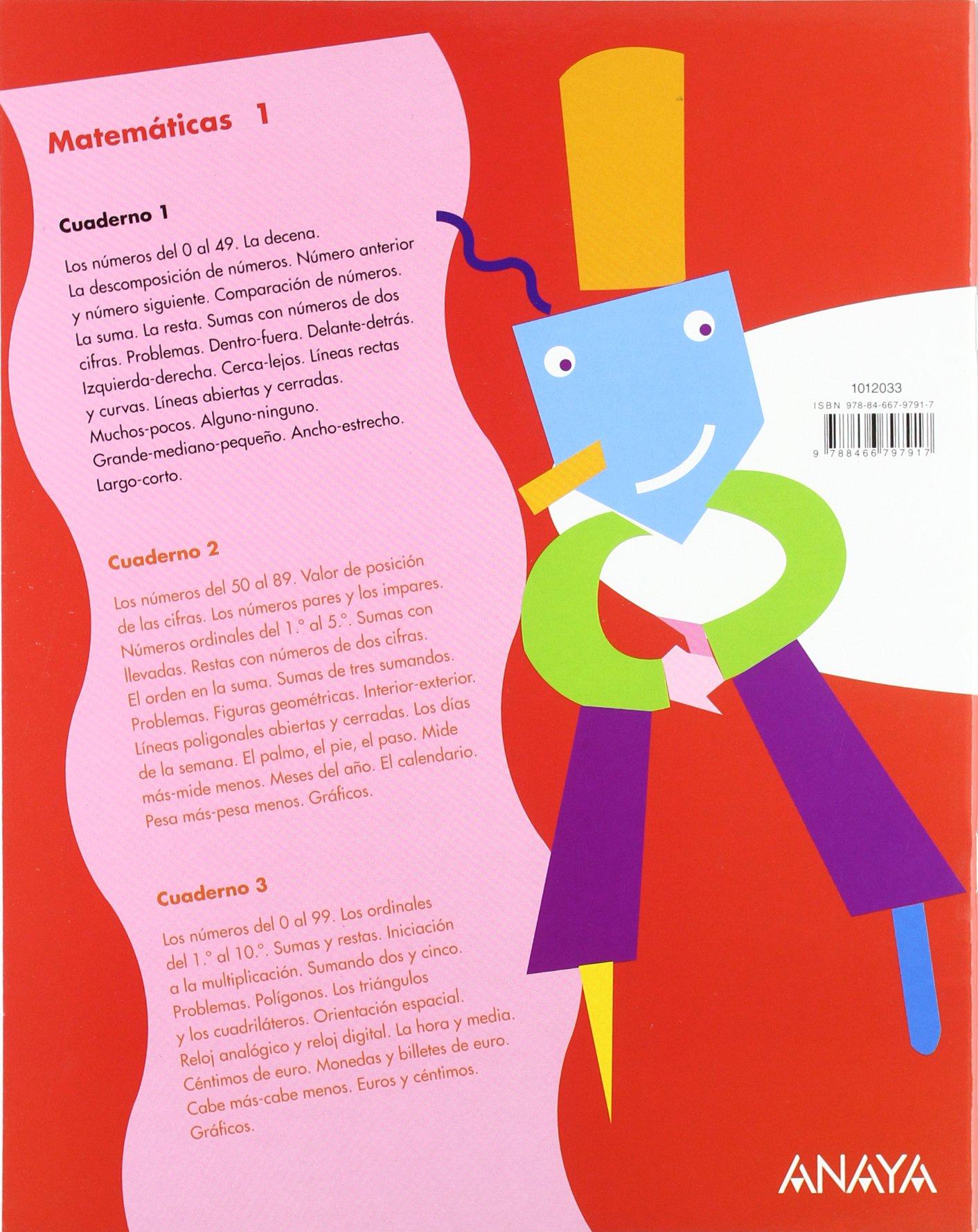Matemáticas 1. Cuaderno 1.: Emma;González López, Lourdes;Muiño Blasco, M.ª Teresa Pérez Madorrán: 9788466797917: Amazon.com: Books