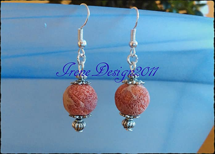 Red Bubble Coral Earrings