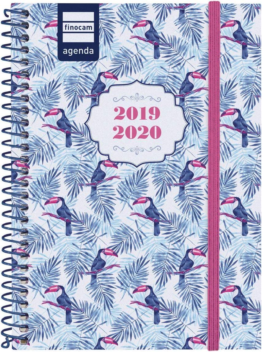 A5 Erik Agenda Scolaire Semainier Blummen 2019//2020-12 Mois