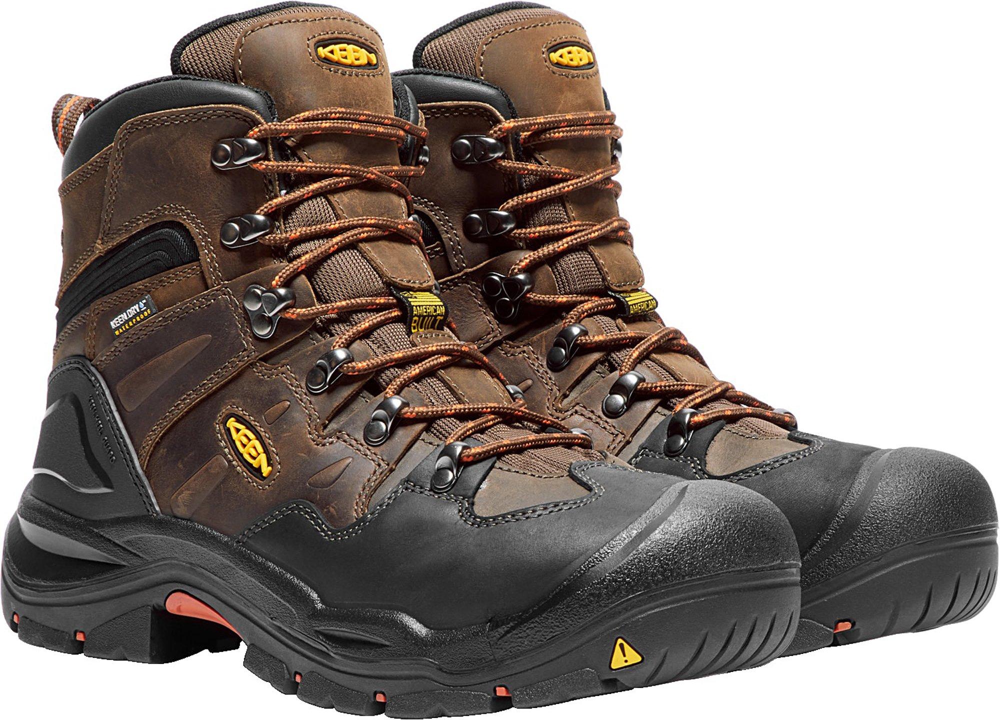 KEEN Utility Coburg 6'' WP (Steel Toe), Men's Work Boot, Cascade Brown/Brindle, 8 EE by KEEN Utility (Image #6)