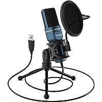 TONOR PC-microfoon, USB-computer, condensatormicrofoon, gaming micros plug & play met statief en popfilter voor podcasts…