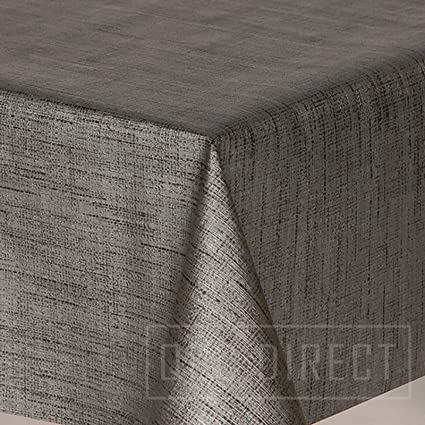 Wipe Clean PVC Tablecloth Vinyl Oilcloth Kitchen Table Cover Protector Slate Grey Sparkly Glitter 50 x 140cm