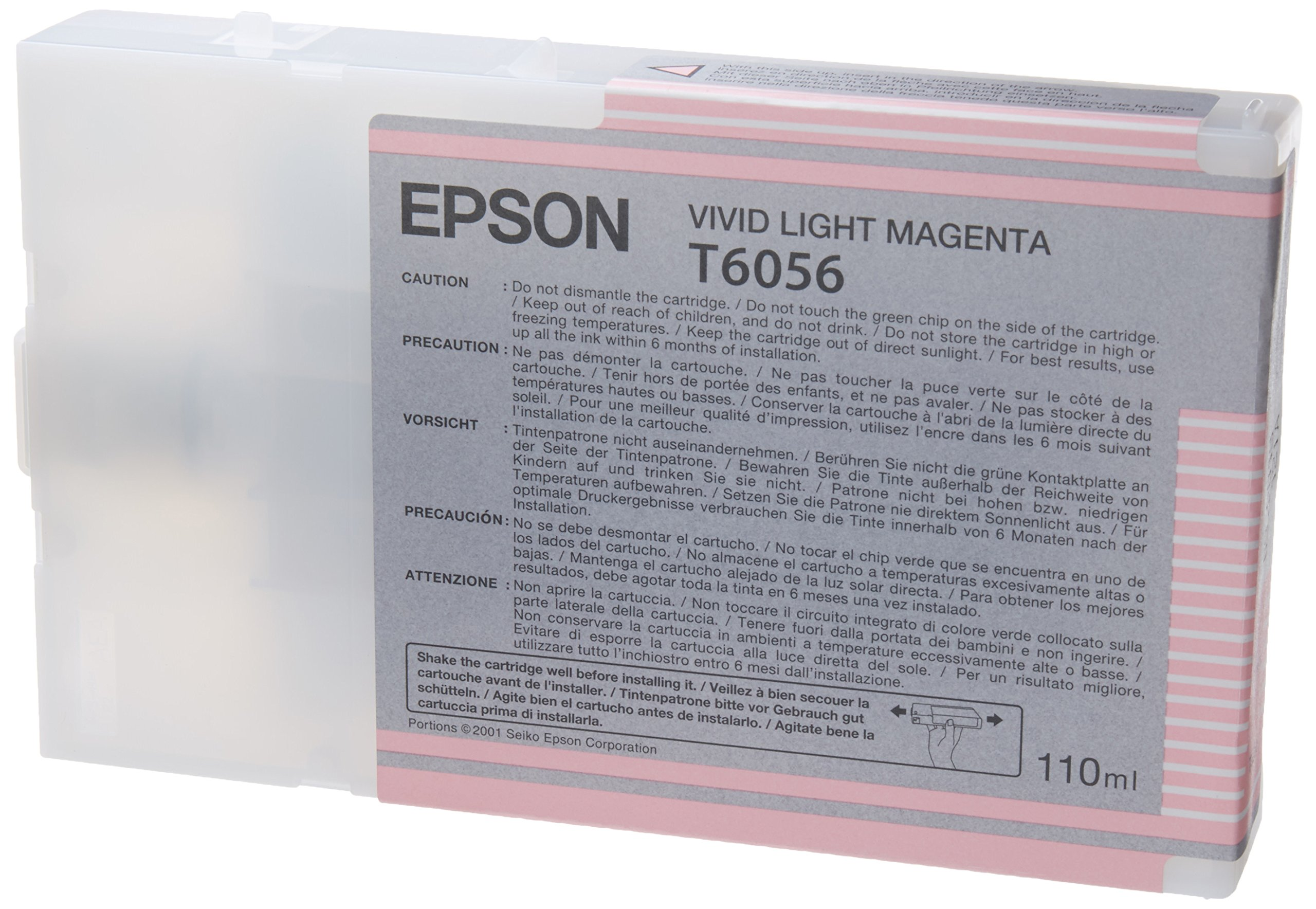 Epson T605C00 UltraChrome K3 110ml Light Magenta Cartridge (T605B00)