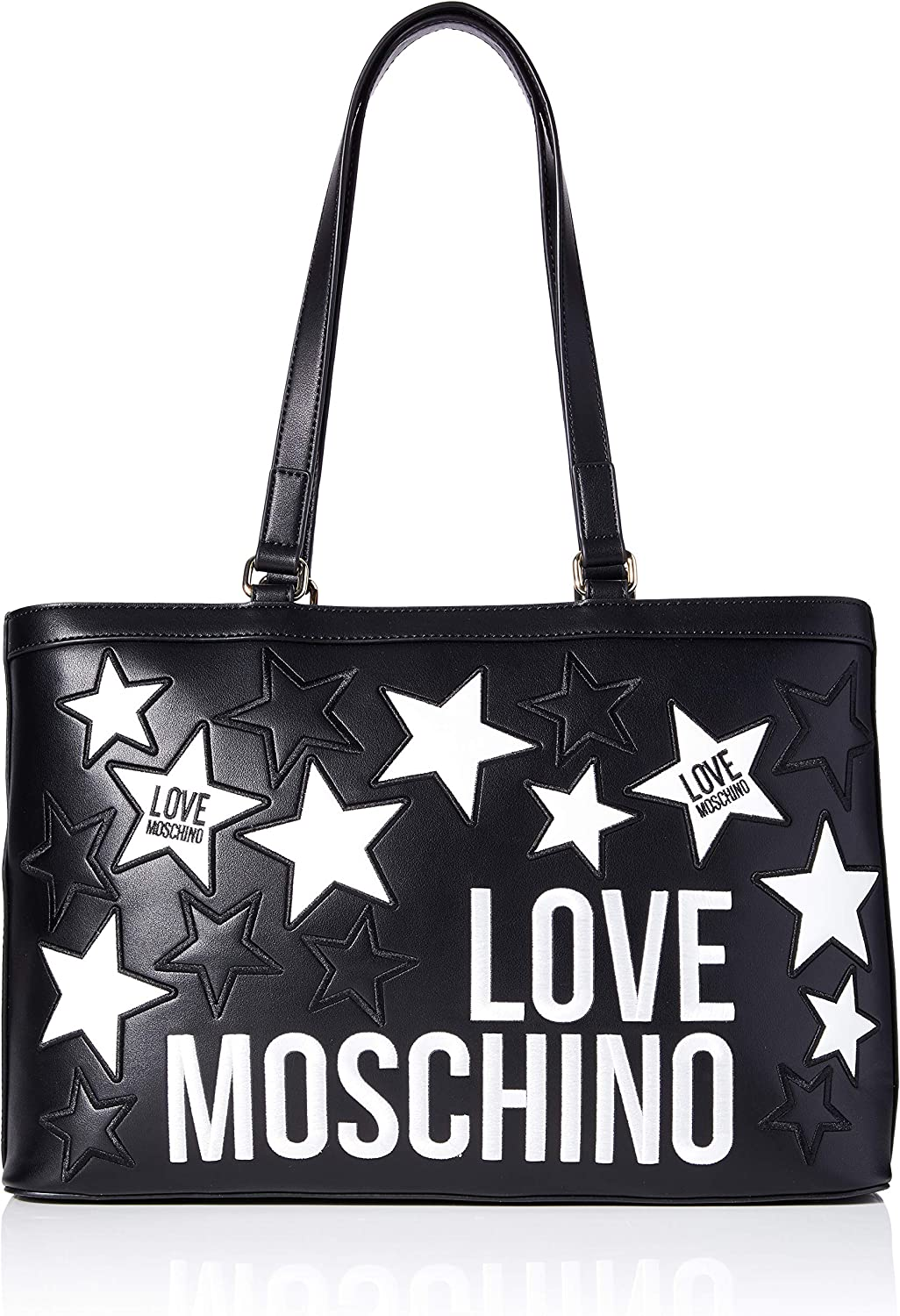 Love Moschino Borsa Donna Ecopelle Nero Stampa Love