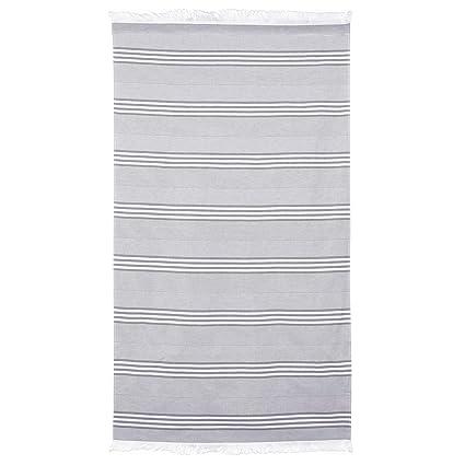 Fouta – Toalla de playa (100 x 180 cm, 100% algodón, 290