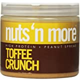 Nuts N More Peanut Butter Crunch, Toffee, 16 Ounce, 2-pack