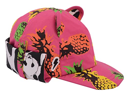 0ee776f707d3d Children s Baseball with Roll Up Neck Flap Sunhat  Cub in Pineapple Punch.  Award Winning Cotton Print Sunhat with UV Protection