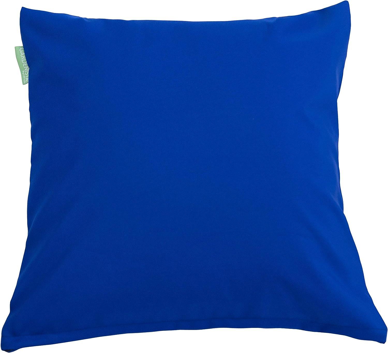 Gardenista Coj/ín de Muebles para Jard/ín Cojines Silla Jardin Paquete de 2 45 x 45 cm Resistente al Agua Azul Relleno de Miga de Espuma para Uso Externo