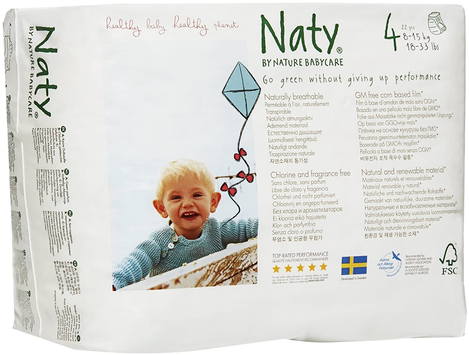 Nature Babycare Eco Pull On Pants, Size 6 (18count) 244114