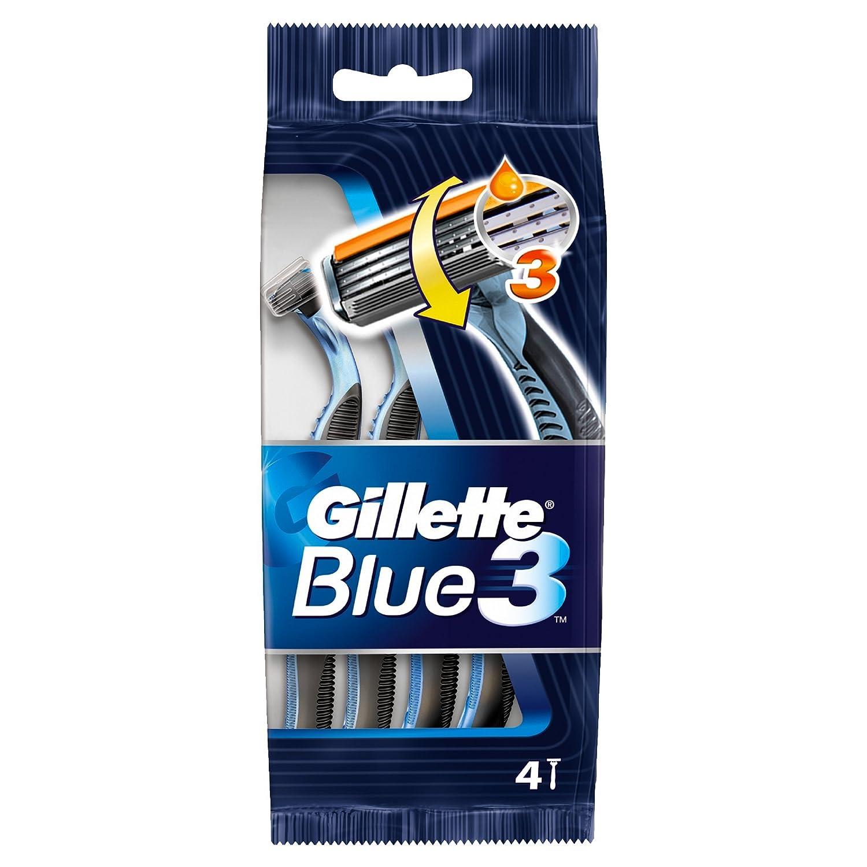 Gillette Blue3 Disposable Men's Razors, 4 Razors Procter & Gamble 88690
