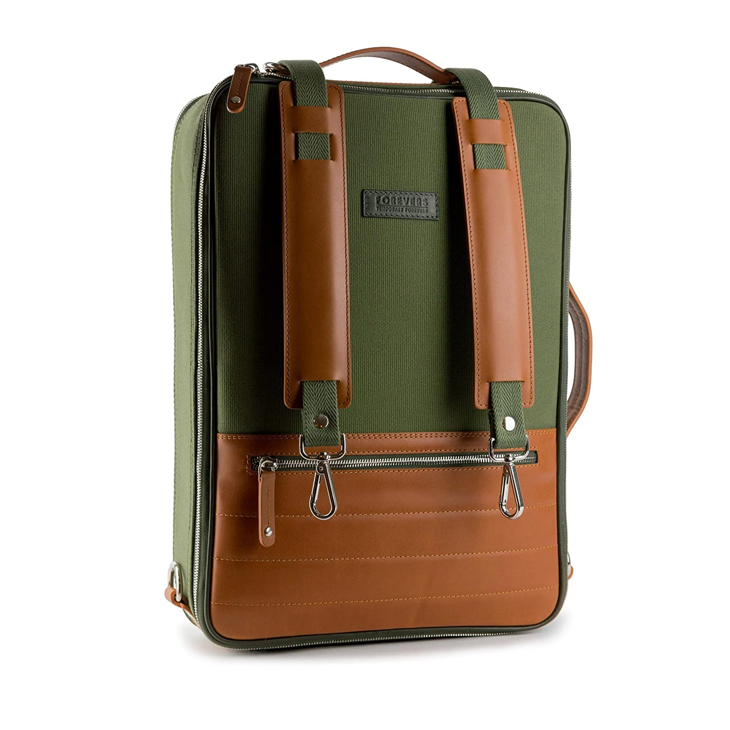 48Hr Switch Bag - Free Minimalist Leather Wallet Included - Italian Leather  and Canvas 3in1 Laptop a348a6a5ee
