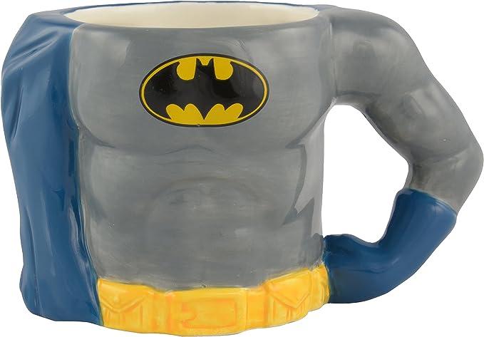 "Batman Tasse 3D Body"", ca. 350 ml – 0122123 Taza, cerámica, Gris ..."
