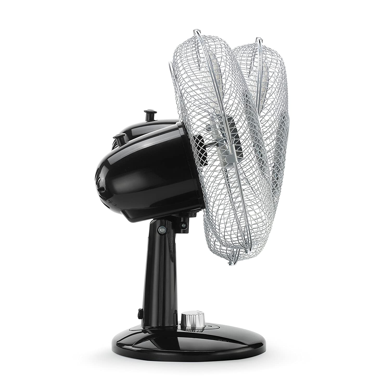 Ventilador de Pedestal 3 Modos Negro // Plata   50 W 41 cm Ventilador de pie Oscilaci/ón 80/° Netta 16