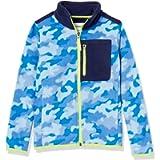 Amazon Essentials Boys' Polar Fleece Color-Blocked Jacket