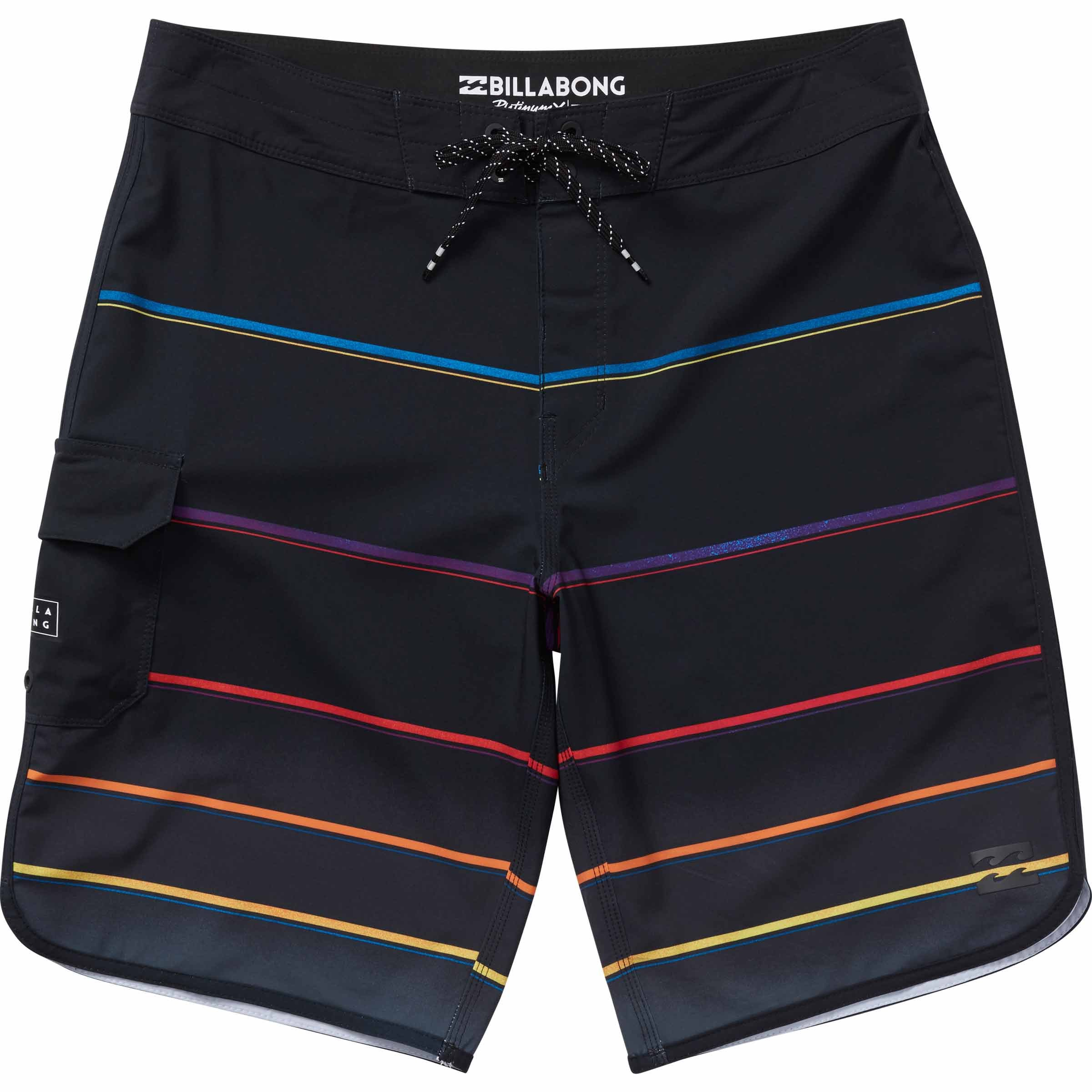 Billabong Men's 73 X Stripe Boardshort, Black, 40