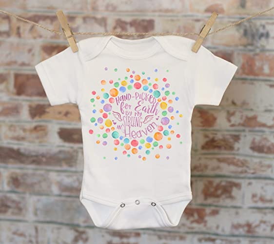 325428501f3e Amazon.com: Handpicked for Earth By My Sibling In Heaven Onesie®,  Sentimental Onesie, Rainbow Baby Onesie, Boho Baby Onesie, Girl Onesie:  Handmade