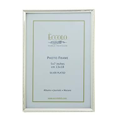 Eccolo SP311 Narrow Beaded Silver Plated Frame, 4 by 6-Inch