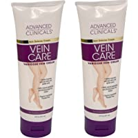 Advanced Clinicals Vein Care- Eliminate The Appearance Of Varicose Veins. Spider Veins. Guaranteed Results! (Two - 8 Oz)