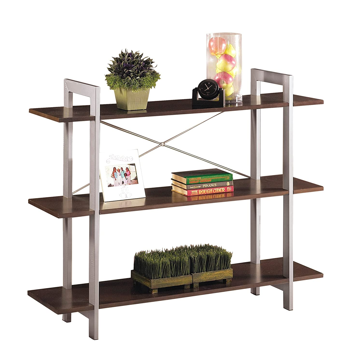 width p x inch mobile bookcase black steel height bookcases rta lorell depth