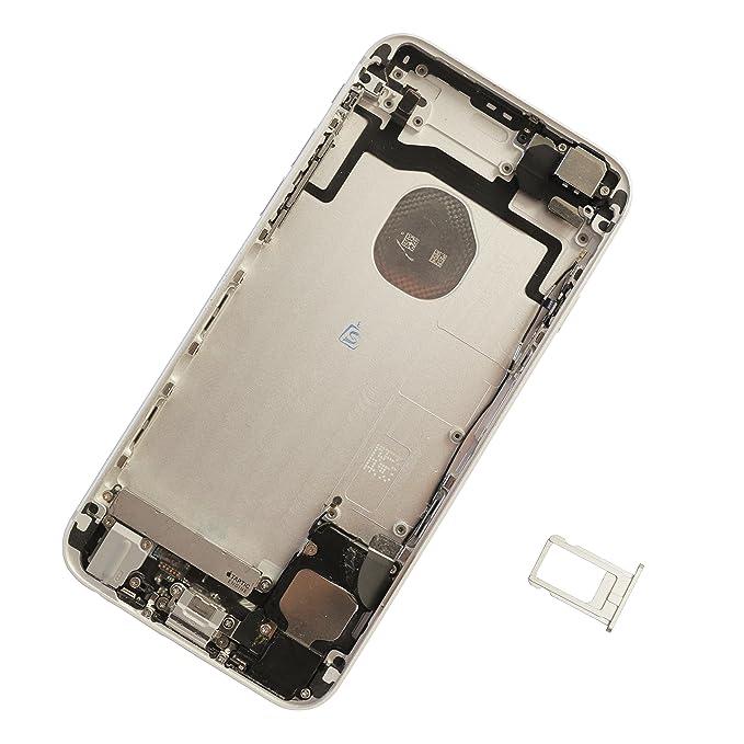 Teile+Reparatur KOMPLETT für iphone 6 Gehäuse silber Display weiß Akku