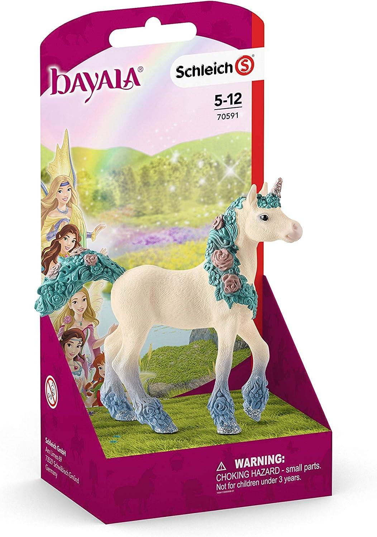 Poulain bayala Schleich- Figurine Licorne aux Fleurs 70591 Multicolore