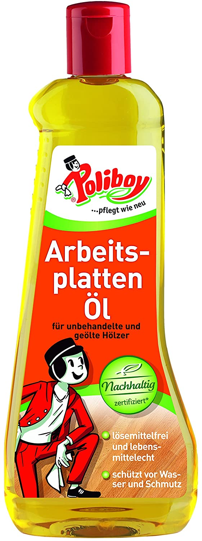 Poliboy - Arbeitsplatten Öl 500 ml - für unbehandelte und geölte Hölzer - Küche