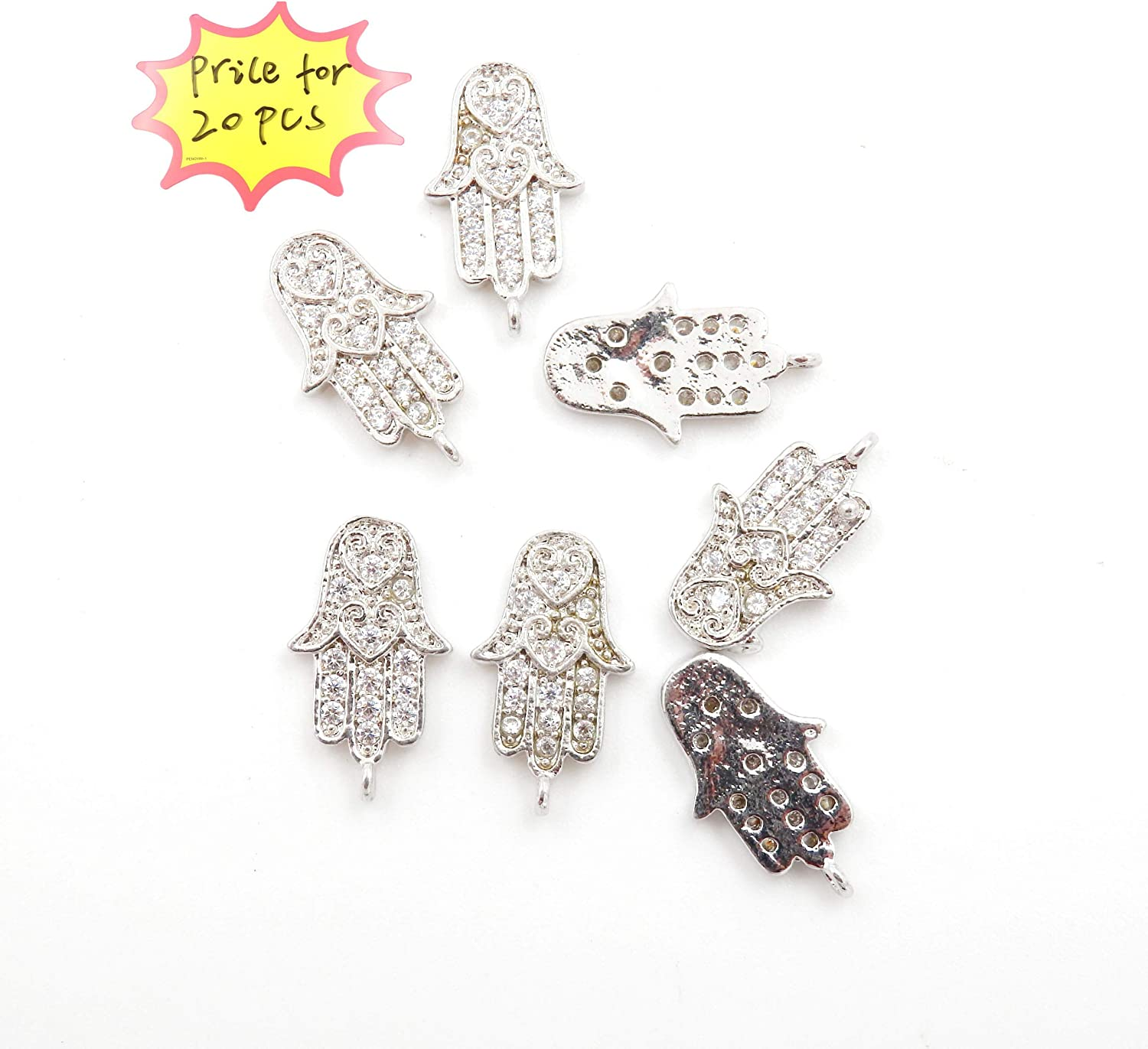 Charm Gold Zircon Crystal Earrings Pendant Connector Craft DIY Earring Bracelet Necklace Jewelry Making