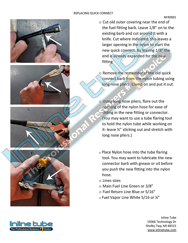 Inline Tube NFR0017 /& NFR0018 Both V-2-7 Nylon Gas Fuel Vapor Line Full Kit FLEX Compatible With Chevy HHR Cobalt Saturn Ion Pontiac G5