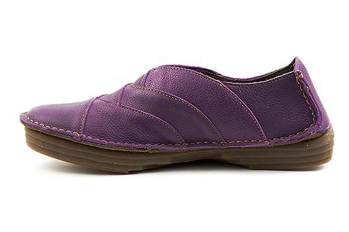 El Naturalista - Mocasines de Piel Lisa para mujer morado morado 37, color morado, talla 37: Amazon.es: Zapatos y complementos