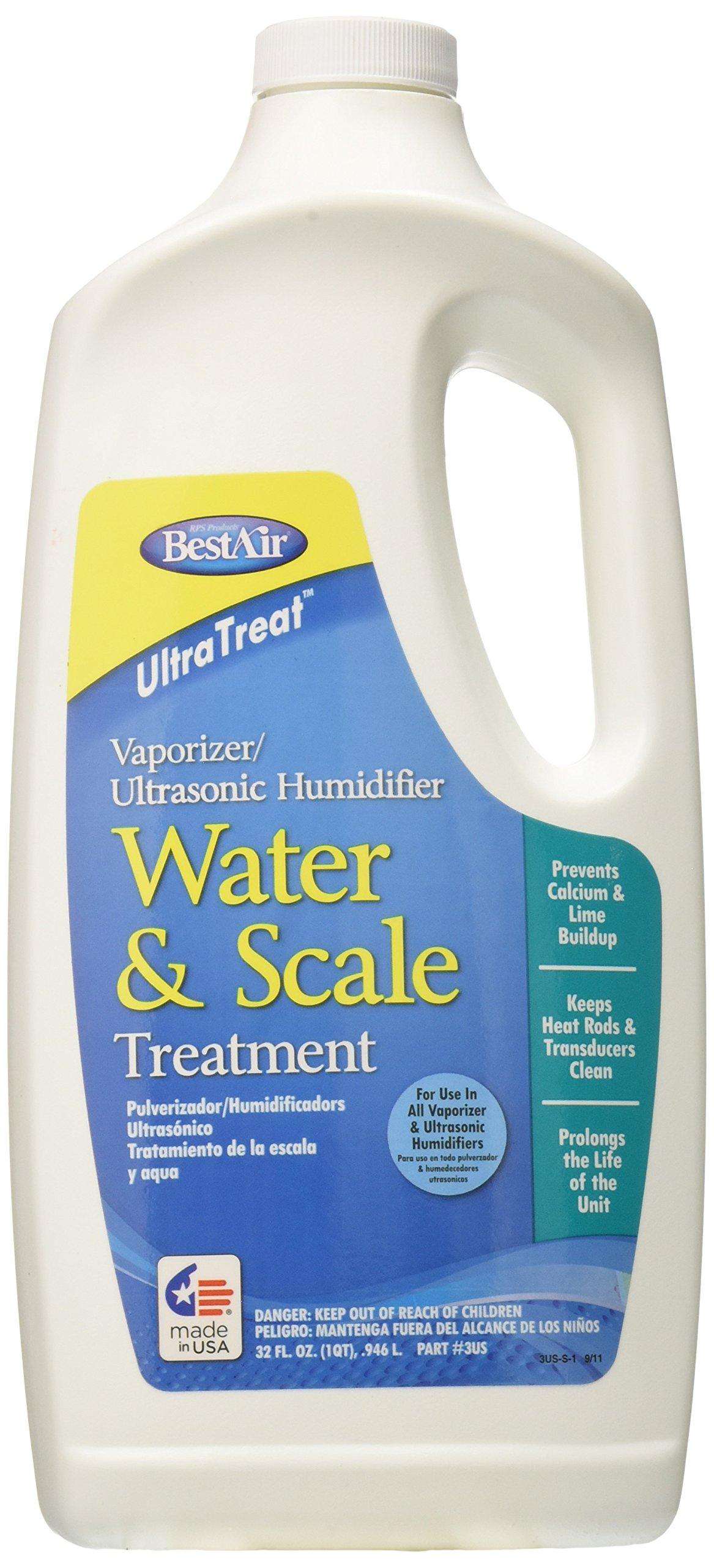 BestAir 3US, UltraTreat Ultrasonic/ Vaporizer Water & Scale Treatment, 32 oz, 6 pack by BestAir