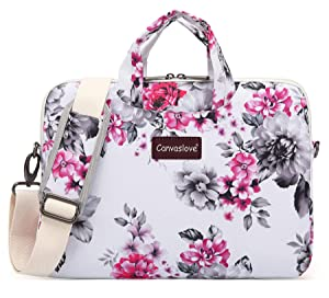 "Canvaslove Chrysanthemum Waterproof Laptop Shoulder Messenger Case Sleeve Bag For iPad 12.9 inch,Macbook Pro 13"",Macbook Air 13"",Surface Laptop 13.5"",Surface Book 13.5"" and 13 inch-13.3 inch Laptop"