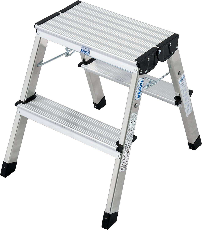Krause – Escalera plegable de doble treppy, 1 pieza, 2 x 2 peldaños, 130013: Amazon.es: Bricolaje y herramientas