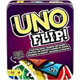 UNO FLIP! Family Card Game, with 112 Cards in a Sturdy Storage Tin, Makes a Great Gift for 7 Year Olds and Up UNO FLIP! Famil