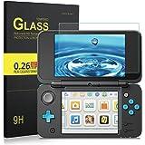 IVSO Nintendo 2DS LLガラスフィルム  Newニンテンドー2DS LL『上・下セット』 用強化ガラス 高精細 クリスタル透明度 9H硬度 ガラス飛散防止 指紋防止 気泡ゼロ (クリア)