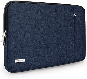 "TECOOL 14 Inch Laptop Sleeve for Lenovo IdeaPad 3/Chromebook/ThinkPad 14"", HP Stream/Pavilion/Elitebook 14, Dell Inspiron 14, 15"" Surface Laptop 3, XPS 15 7590/9500, Samsung Notebook 9 15"", Dark Blue"