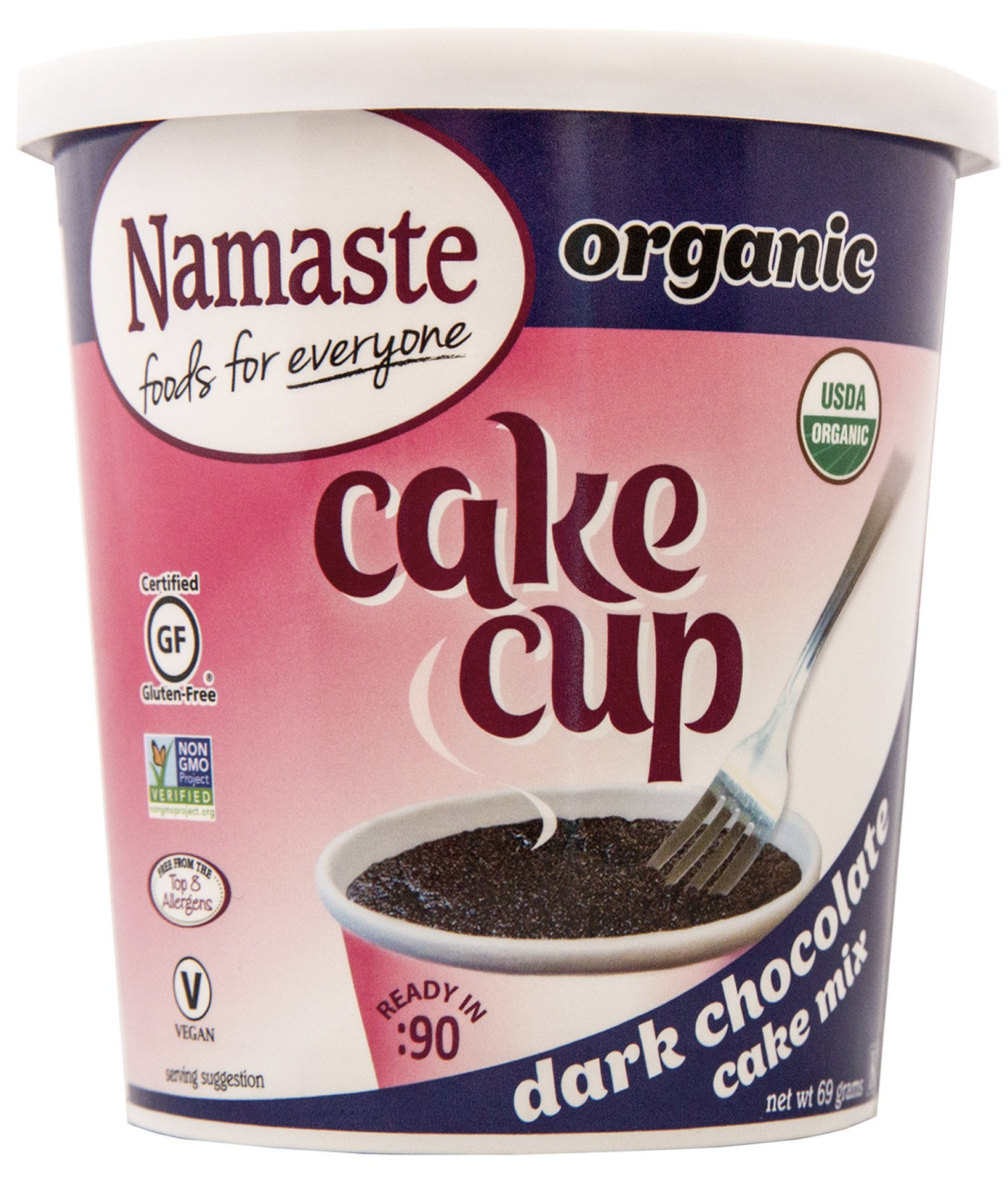 Namaste Foods Gluten Free Organic Cake Cup, Dark Chocolate, 2.43 Oz (Pack Of 12) by Namaste Foods