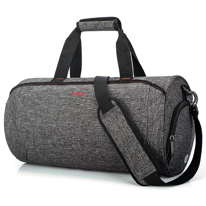 3c4630af8a11 NiceEbag Gym Bag Sport Duffel With Shoes Compartment Water-Resistant Travel  Shoulder Bag Lightweight Weekender