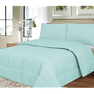 Sweet Home Collection Down Alternative Polyester Comforter Box Stitch Microfiber Bedding - Twin, Blue