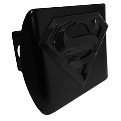 Elektroplate Superman Black and Black All Metal Hitch Cover: Automotive