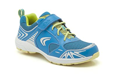 2a27f2ca015f Image Unavailable. Image not available for. Colour  Clarks Boys Sport Out-Of-Sc  Air Sprint Jnr Coated Leather Trainers In Blue
