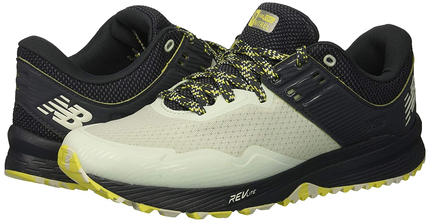 Amazon.com | New Balance Womens Nitrel V2 FuelCore Trail Running Shoe, Ocean air/Thunder/Limeade, 8 D US | Trail Running