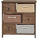Cassettone comodino stile casa di campagna shabby legno di pino con tre cassetti amazon - Mobiletto cucina amazon ...