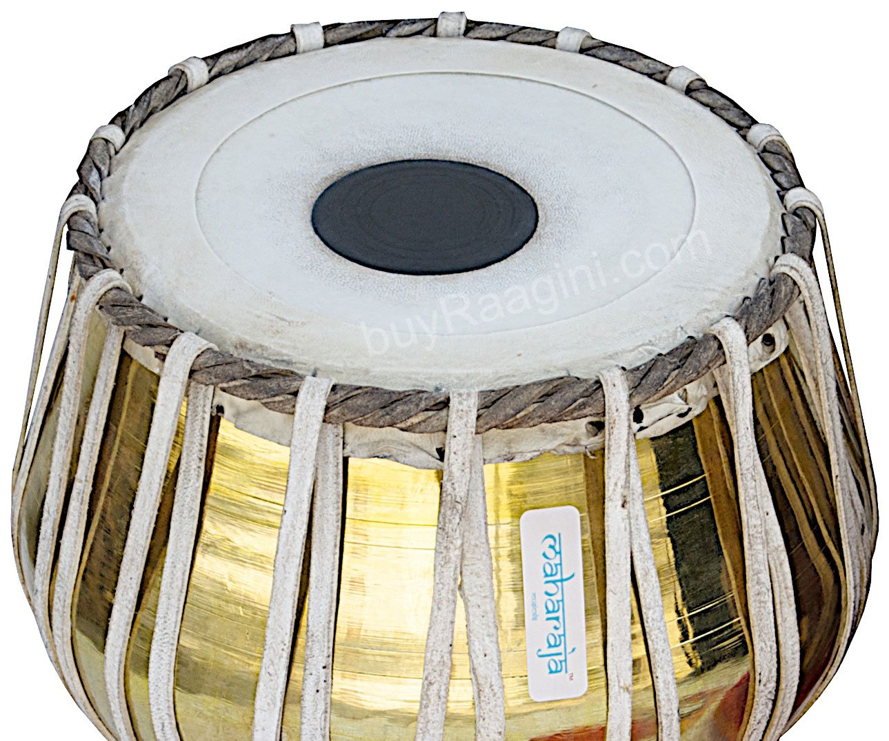 Tabla Set by Maharaja Musicals, Golden Brass Bayan 3Kg, Sheesham Dayan Tabla, Nylon Bag, Hammer, Book, Cushions, Cover, Tabla Indian Drums (PDI-CH) by Maharaja Musicals (Image #4)